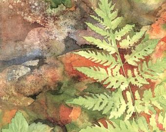 Fern and Currant Leaves