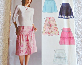 d73218f5f1de7 New Look 6512 Sewing Pattern Misses Skirt 5 Styles Uncut Size 6 8 10 12 14  16