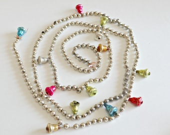 Vintage Mercury Beaded Garland With Bells 1960's  Lot A