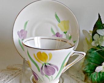 Tea Cup and Saucer Saucer Vintage Teacup and Saucer Phoenix Bone China
