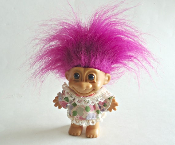 """5/"""" Russ Troll Doll NEW IN ORIGINAL WRAPPER  PURPLE HAIR Fast Shipping PIRATE"""