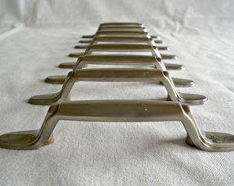 8 Vintage Drawer Pulls Matted Silver Toned Metal Handles Drawer Pulls Handles Hardware