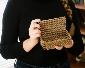 Brass chainmail box with lid
