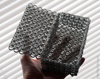 Chainmail Box with Hinged Lid