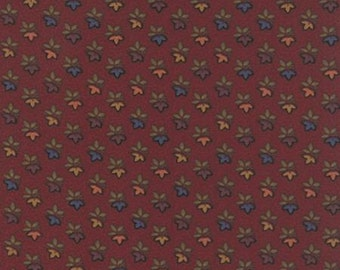 Sunflower Song- Leaf Trio in Red - by Kansas Troubles for Moda -- 1/2 YARD