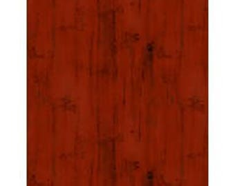 HOMESTEAD - Wood Texture Red -- 1/2 Yard
