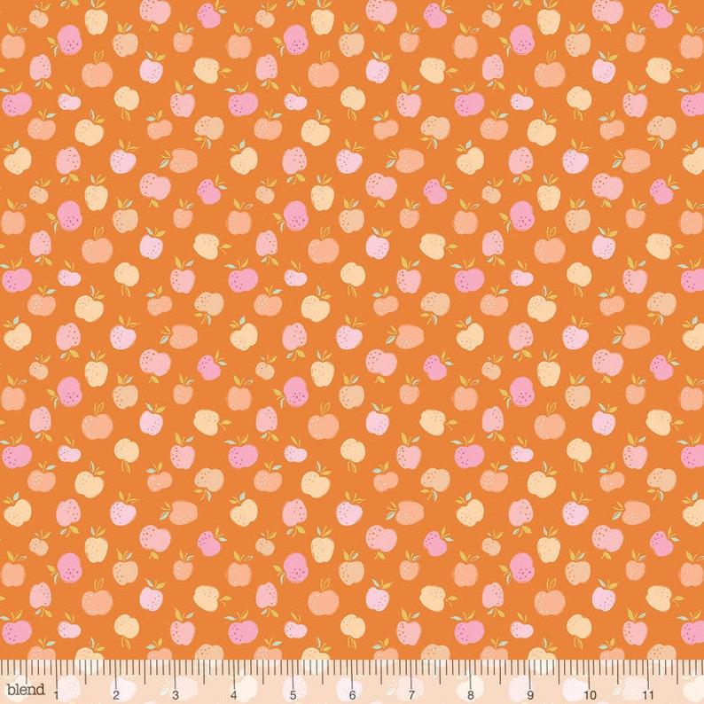 Storytime Apple of My Eye in orange by Brenda Walton for Blend 12 Yard