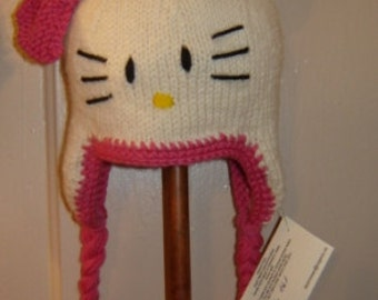 Knitted Baby Hat Pattern -   Hello Kitty