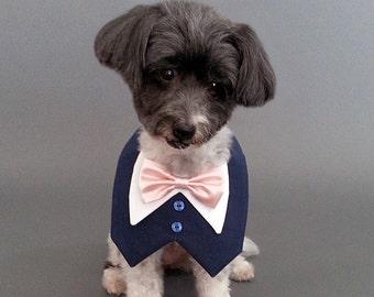 Navy Dog Wedding Tuxedo