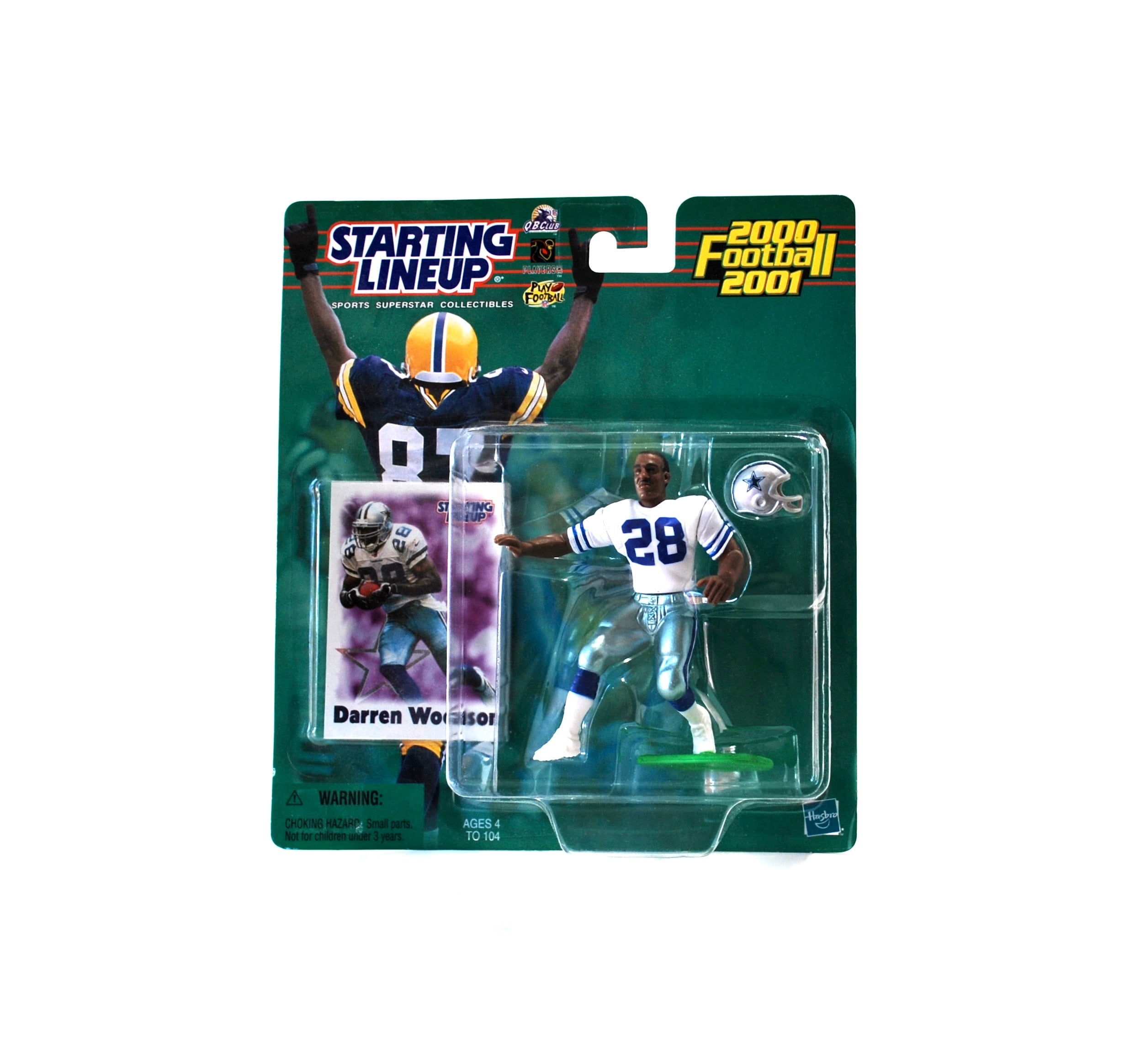 ROOKIE 2000-2001 HASBRO STARTING LINEUP DARREN WOODSON of the DALLAS COWBOYS