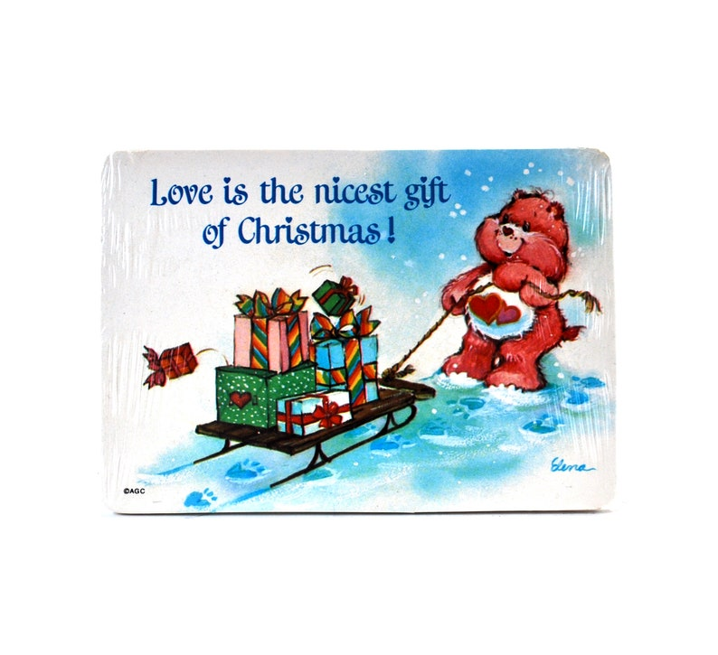 15 Care Bear Christmas Postcards Old Stock Sealed Pack From American Greetings