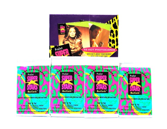 Super Stars Musicards ProSet 1991 Packet Pack Trade Cards Sealed