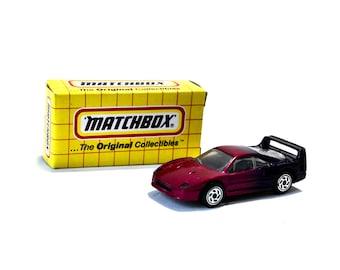 Matchbox Ferrari F-40 MB24 Two Tone Purple Old Stock IOB
