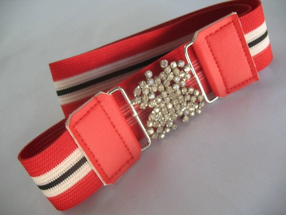 2b56da99a51 ELASTIC GIRLS BELTS with Rhinestone Butterfly Buckle