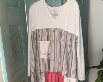 Funky upcycled tunic top