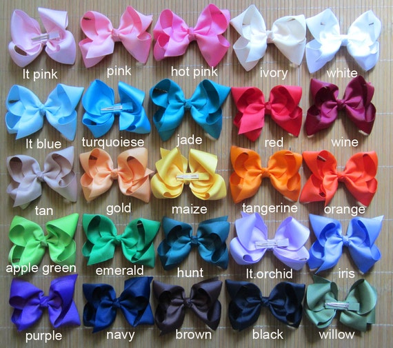 10 Off Set Of 20 6 Girls Bows Dollar Bows Girl Etsy