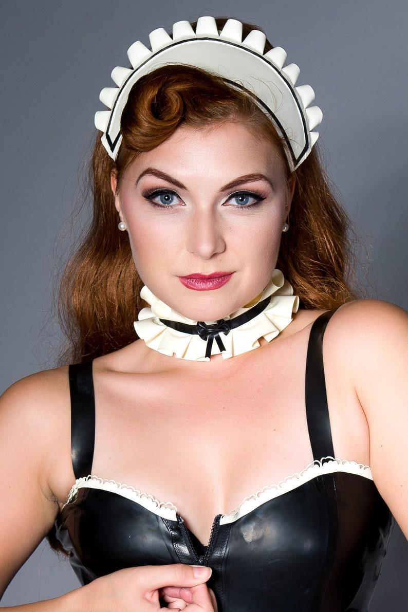Latex French Maid Hat   Etsy