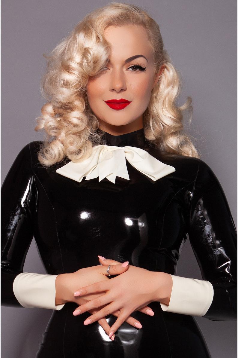 Latex Pussy Bow Dress | Etsy
