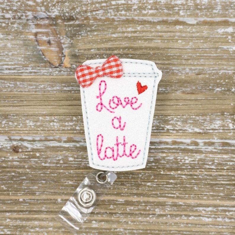Valentine/'s Day Badge Reel Nurse Nurses Week Gift, Coffee Lover Gift Coffee Cup Valentine/'s Day Nurse Badge Reel Nurse Thank you Gift