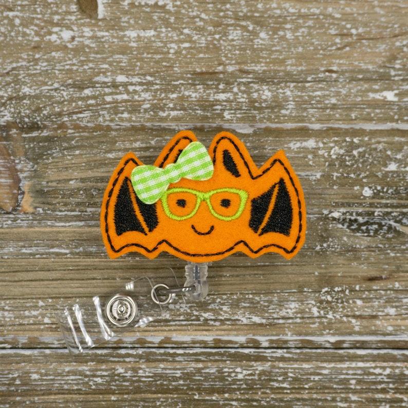 Geeky Bat Halloween Badge Reel Nurse Nurse Badge Reel Fall Fall Badge Reel Nurse Nurse Badge Reel Nurse Badge Clip Halloween Nurse Gift