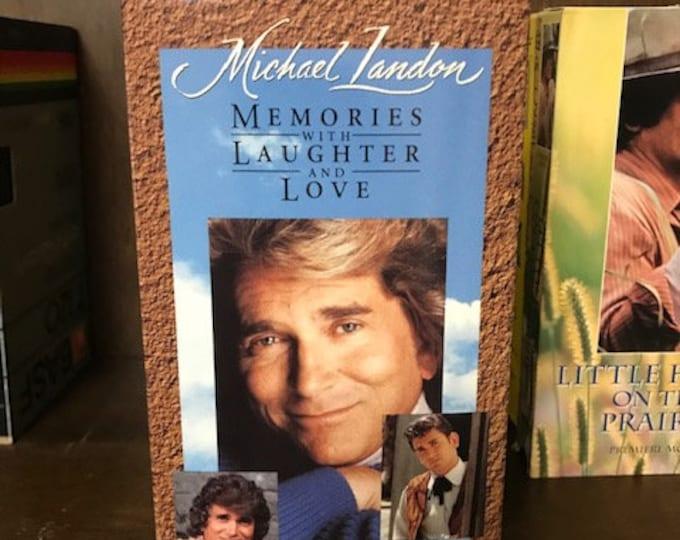Michael Landon Memories Tribute VCR Tape Legacy Family Treasured Movie
