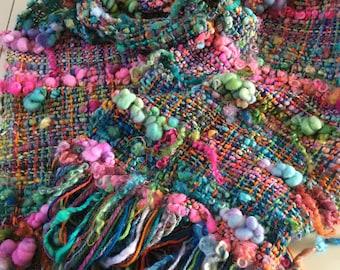 Handspun,Handwoven Shawl/Wrap/Scarf