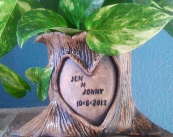 Tree Stump Planter (Personalized)