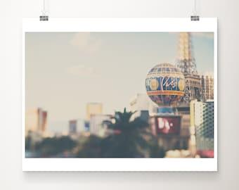 Las Vegas photograph, Las Vegas hotel print, Paris Las Vegas print, Americana decor, travel photography, Nevada print, large wall art