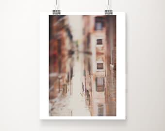 Venice photograph, vertical Venice print, Venice decor, large wall art, travel photography, Venice acqua alta print, wanderlust art