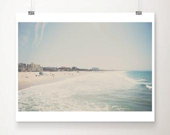 Santa Monica print, aerial beach photograph, Pacific Ocean print, large wall art, California photograph, West Coast decor