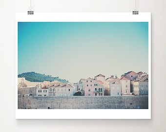 Dubrovnik print, Dubrovnik city walls photograph, Dubrovnik old town print, travel photography, Dubrovnik rooftops print