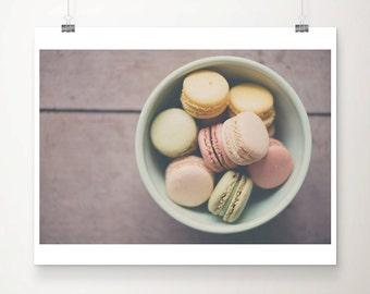 french macaron photograph, food photography, large wall art, Paris print, French decor, kitchen decor