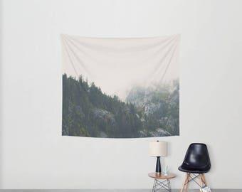 Lake Tahoe tapestry, mountains photograph, California print, Sierra Nevadas art, wilderness print, boho wall art