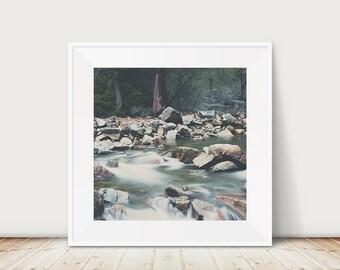Lake Tahoe photograph, Eagle Falls print, California wall art, wilderness art, nature photography