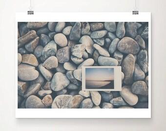 beach photograph beach house decor Nice photograph sunset photograph France photograph rocks photograph ocean photograph