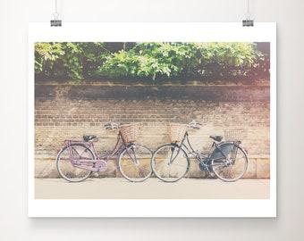 purple bicycle photograph, Cambridge print, travel photography, wanderlust art, Cambridge University, purple bike print