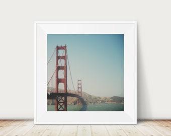 San Francisco photograph, California print, SF photograph, west coast decor, square San Francisco print, Golden Gate Bridge Print