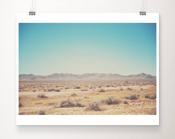 Mojave desert photograph, California print, wilderness art, travel photography, mountains photograph, adventure print