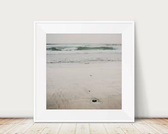 San Diego print, Beach photography, California print, Pacific Ocean photograph, Coastal wall art, large square print, pastel beach decor