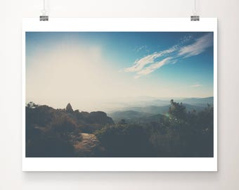Mt Woodson photograph, California print, wilderness print, San Diego print, mountains print, large wall art, rustic decor