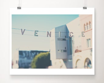 Los Angeles print, Venice Beach photograph, California print, travel photography, wanderlust decor, pastel decor, Venice Beach print