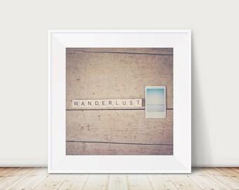 wanderlust beach photography, inspirational quote print, large wall art, ocean print, travel photograph