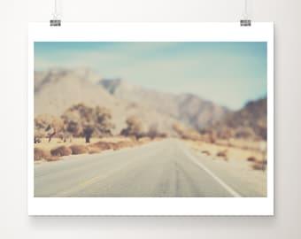 SALE road photograph, travel photography, California print, mountains photograph, wanderlust art, adventure decor, discounted 8x10 print