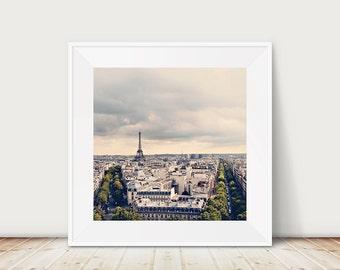 SALE paris photography eiffel tower photograph paris decor french wall art paris art travel photography paris rooftops