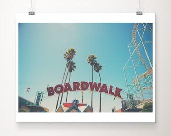 Santa Cruz boardwalk photograph, California print, beach photography, travel photography, wanderlust art