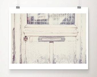 paris photograph, paris decor, white door photograph, paris print, french decor, letter box photograph, france photography