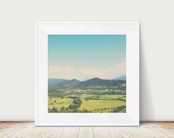 Slovenia photograph, Julian Alps print, landscape photograph, Europe mountains print, wilderness art, travel photography