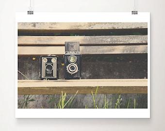 vintage camera photograph, Kodak camera print, Kodak Brownie print, studio decor, photographers gift, farmhouse decor