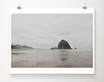 Cannon Beach photograph, Oregon print, Haystack Rock print, Pacific Ocean photograph, west coast decor, wanderlust art