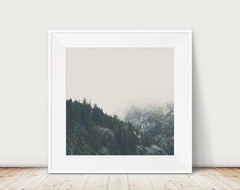 California mountains photograph, woodland print, Lake Tahoe print, rustic decor